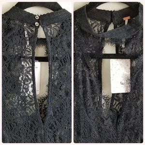 Free People Tops - FREE PEOPLE SECRET ORGINS PIECE LACED TUNIC DRESS